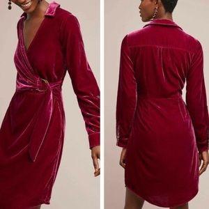‼️NWT Anthropologie Velvet Wrap Dress ‼️
